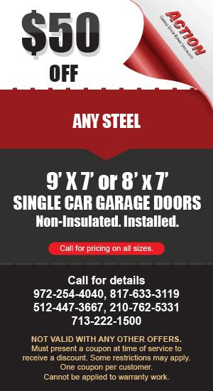 50 off Steel Single Car Garage Doors