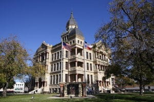 historic old courthouse in denton tx