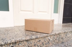 package delivered on front porch