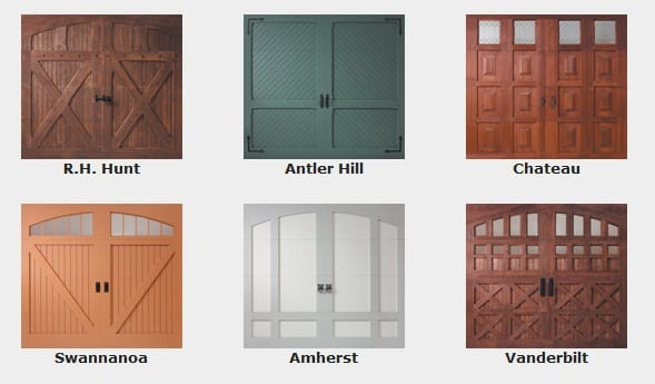 Biltmore Estate Collection Garage Door design choices