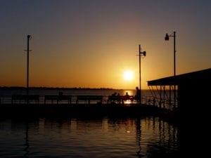 sunset on lewisville tx lake