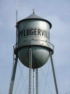 water tower in pflugerville tx