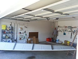 This residential home in Rockwall Texas had a garage door panel break away and fall to the garage floor and Action Garage Door is called to the scene