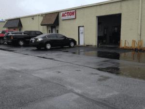 Front of Action Garage Door office building
