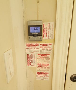 Action Garage Doors and their highly qualified technicians was summoned to this Dallas residence to repair and replace this steel garage door opener