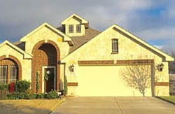 A beautiful double car steel garage door install and repaired by Action Garage Doors professionals in Midlothian Texas
