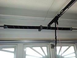 A set of new residential garage door springs installed in order to assist the garage door openers in Carrollton Texas