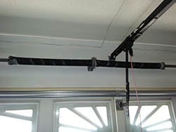 A set of new residential garage door springs installed in order to assist the garage door openers in Carrollton Texas