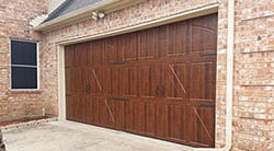 residential wood garage door in austin