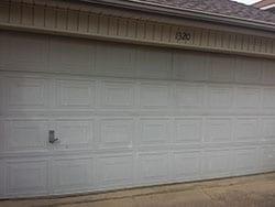 Action Garage Doors was assigned the repair and or replace of this faded broken residential garage door in Lewisville Texas and Adan Vega the technician