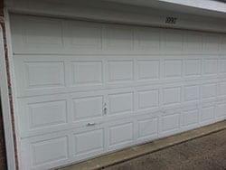 This home at 1097 Morning Star in Rockwall Texas suffered from a broken steel garage door panel and Action Garage Door was called to install new garage door