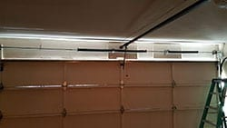 This home on Monticello Ave in Dallas Texas had their residential steel garage door spring repaired and installed by Action Garage Doors
