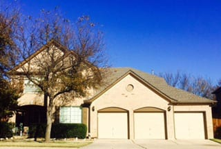 A beautiful single car residential and commercial steel garage doors installed and repaired in Flower Mound Texas by Action Garage Doors
