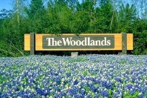 the woodlands sign in texas
