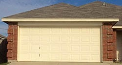 Action Garage Door was called to this home in White Settlement Texas to repair and install a new steel garage door using professional technicians